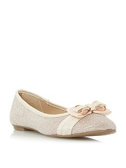 Hadia bow trim ballerina shoes