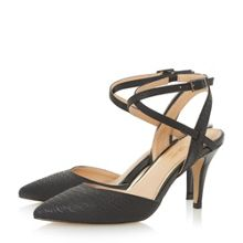 Head Over Heels Celina snake print pointed courts