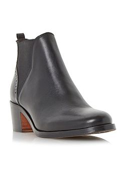 Parnell punch hole detail chelsea boots