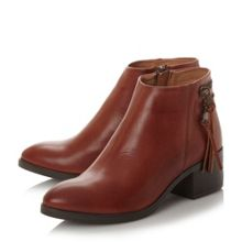 Dune Pipinn  double zip ankle boots