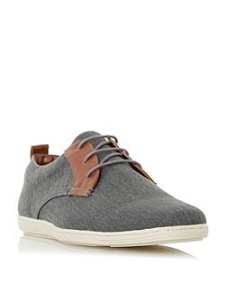 Thomas leather lace up canvas shoes