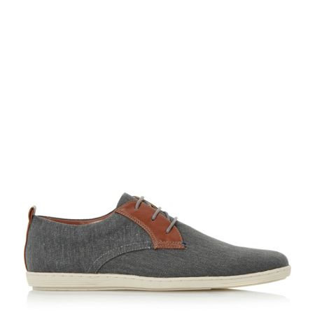 Dune Thomas leather lace up canvas shoes