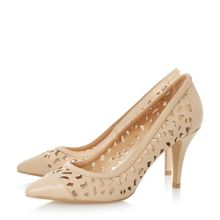 Linea Amarose laser cut pointed toe court shoes