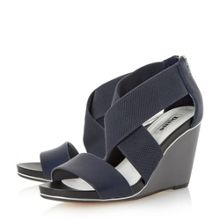 Kaye crossover strap wedge sandals