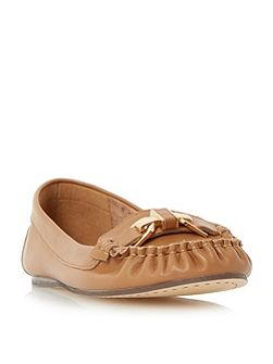 Gilda metal trim moccasin loafers