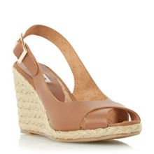Dune Kia sling back wedge sandals