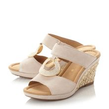 Gabor Sizzle t - bar embellished wedge sandals