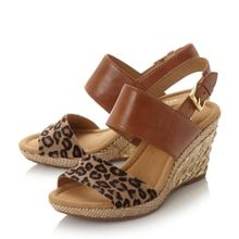 Gabor Anna buckle wedge sandals