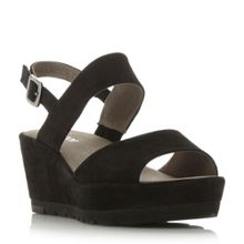 Gabor Study cleated sole buckle wedge shoes