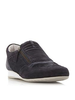 Brunello zip detail trainers