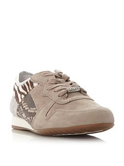 Haddaway multi fabric lace up shoes