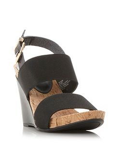 Kailee elasticated strap wedge sandals