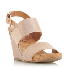 Dune Kailee elasticated strap wedge sandals