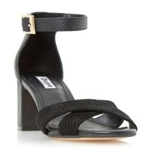 Dune Imelda cross over strap mid heel sandals
