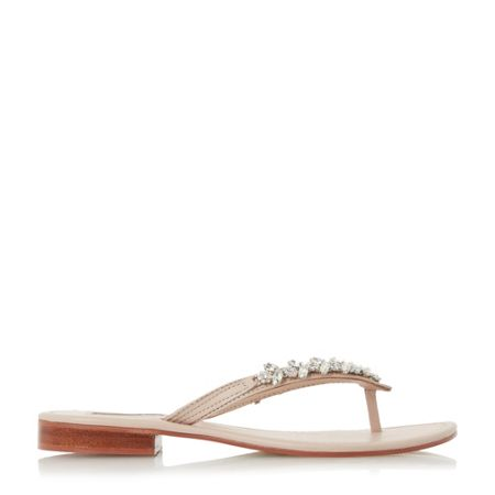 Dune Niki jewelled toe post sandals