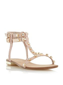 Nessey jewelled stud sandals