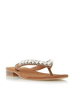 Nevah diamante toe post flat sandals