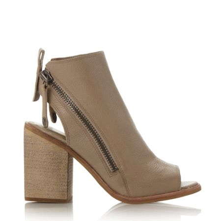 Dolce Vita Port zip detail peep toe sandals