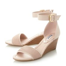 Dune Karis low wedge sandals