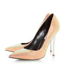 Dune Aimey pointed toe high heel court shoes
