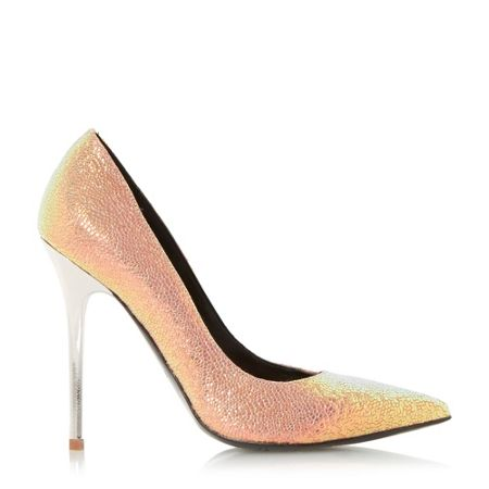 dune aimey pointed toe high heel court shoes beige house