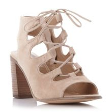 Nilunda lace up peep toe shoes