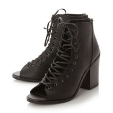 Steve Madden Tempting lace up peep toe shoes