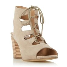 Jamima ghillie lace up heeled sandals
