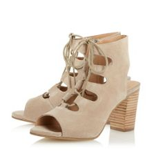 Dune Jamima ghillie lace up heeled sandals