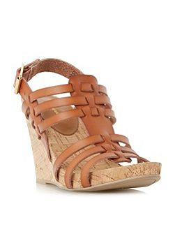 Kestral woven cork wedge sandals
