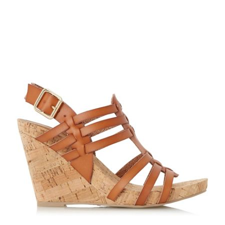 Linea Kestral woven cork wedge sandals