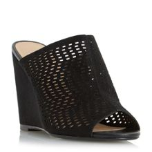 Linea Kaprio perforated mule wedge sandals