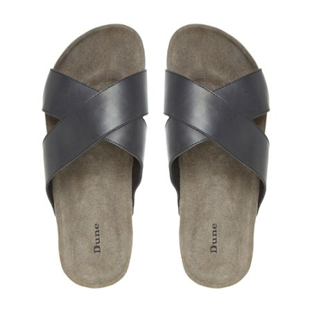 Dune Idris suede crossover strap sandal