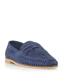 Brighton woven loafer shoes