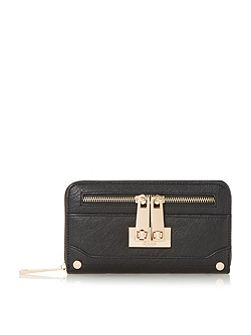 Dune Katee turn lock zip detail purse
