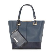 Dune Denisha contrast base panel shopper bag