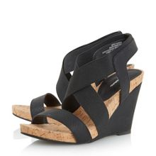Korley cross strap wedge sandals