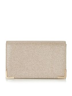 Banberry metal corner clutch bag