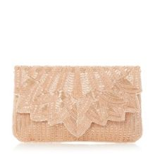 Eloise petal beaded clutch bag