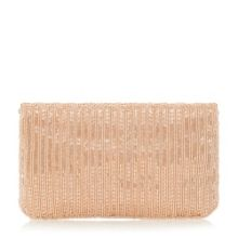 Dune Eloise petal beaded clutch bag