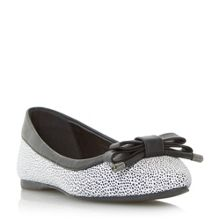 Halina pointed bow ballerina shoes