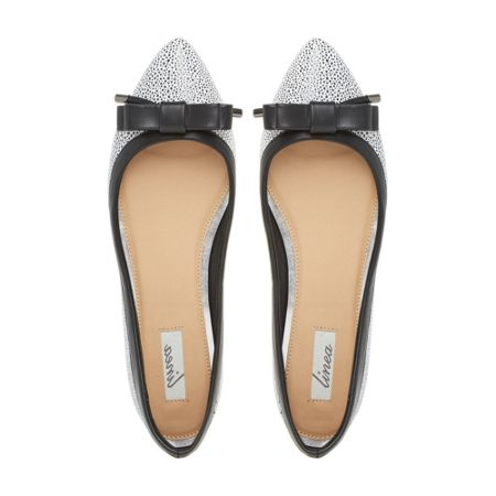 Linea Halina pointed bow ballerina shoes