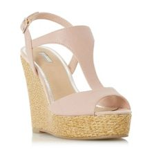 Kelley bar raffia wedge sandals