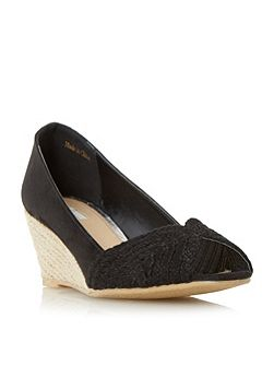 Currio peep toe espadrille wedge shoes