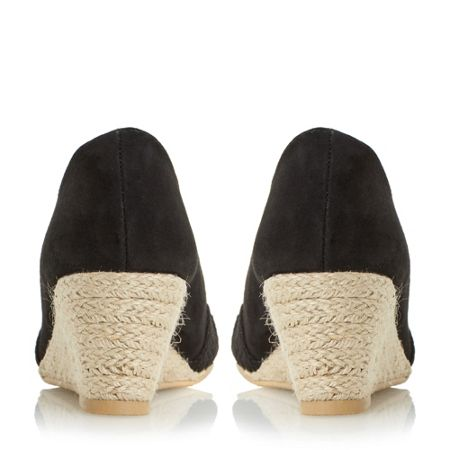 Linea Currio peep toe espadrille wedge shoes