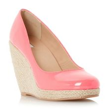 Linea Arnia espadrille wedge court shoes