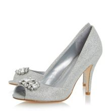 Dapple jewel peep toe high court shoes