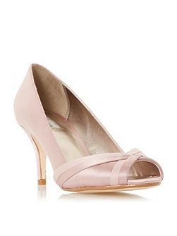 Donella peep toe court shoes