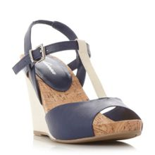 Linea Klipper t bar wedge sandals