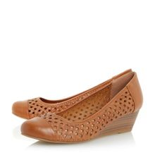 Linea Aldbury woven wedge courts